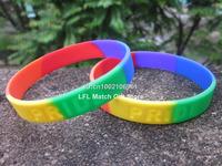 Rainbow colour Gay Pride wristband, debossed bracelet,silicon bracelet, promotion gift, 100pcs/lot, free shipping