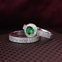 Two rings can be separated ring Silver 4 colors stone option (Sapphire Ruby Emerald and colorles) fashion jewelry ALW1788