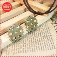 20 cog wheel shape design  diy necklace bracelet component 40pcs/lot  25*25MM pendants alloy  lucky Charms  Jewelry Findings