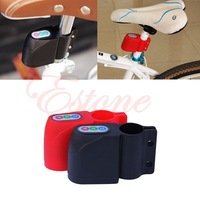 Free Shipping!Excellent Security Alarm Security Bicycle Steal Lock Bike Bicycle alarm with Retail Packaging Black/RED