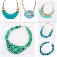 2014 new fashion Ethnic style Bohemia Rhinestone gold Collar Choker Necklace&Pendants  For Women jewelry