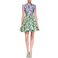 Hot Hot Brand Designer Fashion Women Latest Print Flare Dresses Day Office Wear ML085 Plus Size Wholesale