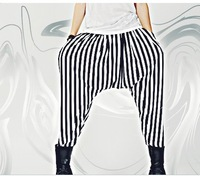 2014 Men harem pants fashion personality stripe pants k26 p65