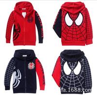 3-10Y Wholesale Children's Clothing Spiderman Coat Children Hoodies Kids Clothes Spider Man Hoody Cardigan Coats For Children