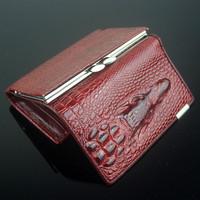 Free shipping Genuine leather women mini wallets , Crocodile 3D mini purse wholesale 2014 new fashion woman card holder wallets