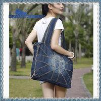 Fashion women handbag dark blue light blue denim jean big British style UK flag tote shoulder bag vintage  bolsa 2014