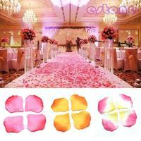 100pcs Silk Rose Flower Petals Leaves Wedding Table Decorations Event Party Supplies Multi Color Wreaths