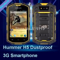 "2014 Hummer H5 3G Smartphone 4.0"" Capacitive Screen IP68 Waterproof Shockproof Dustproof 512M RAM 4G ROM Android 4.2 cell phones"
