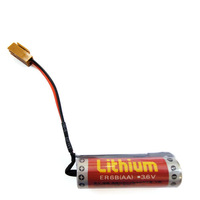 Original MAXELL ER6B(AA)  ER14500 3.6V 1800mAH PLC Lithium Battery With plug Made in Japan