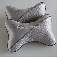 2015 Hot New car pillow 2 pcs Gray Bauhinia bone pillow Car Headrest Pillow Luxury for lumbar support pillow free shipping