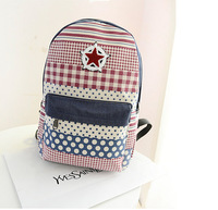 Free  shipping 2014 new fashion lady's  double shoulder bag   backpack  student bag