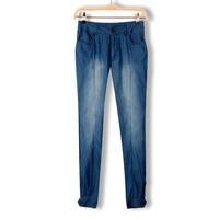 Korean women pants cotton mill white wash  thin  fashion women's feet pencil jeans 2014 new