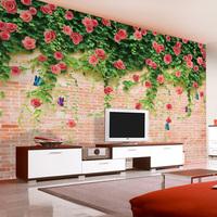 Any Size 3D Photo Wallpaper Mural Modern papel de parede roll infantil listrado Tv background wall paper romantic flowers tapete