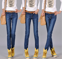 Cool blue color skinny woman pencil leggings new arrival,free shipping promotion women jeans of famous brand denim desigual jean