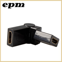 HDMI female to HDMI female cable adapter converter extender 360 degree for 1080P HDTV