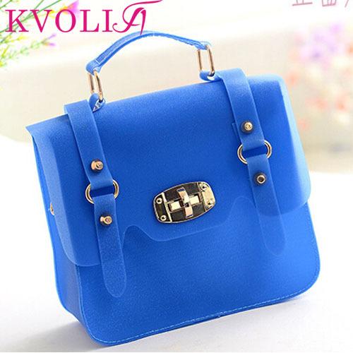 Hot fashion jelly women handbag casual transparent colorful shoulder bags beach bag new 2014 HL1982(China (Mainland))