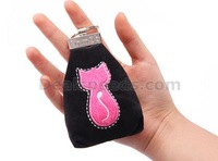 (5 PCS/lot)Quality Fashion Exporting to Japan Cute Kitten Cat Coin Bag for Girls with Keychain/Zipper