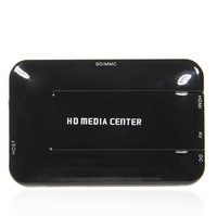 Free Shipping Full HD MultiMedia HDD player w/SD/MMC Card USB Slot,Support External USB Hard Disk Storage up to 2TB