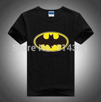 2014 Summer New Mens Fashion Cotton Smiley Blouses Tshirts Superhero Batman Plus Big Size Short Sleeve Men T-shirt Free Shipping