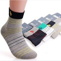 High Quality 2014 New Sports Men's Socks Cotton Polo Socks Brand Casual Sock Man Free Shipping (20pcs=10pairs=1lot)
