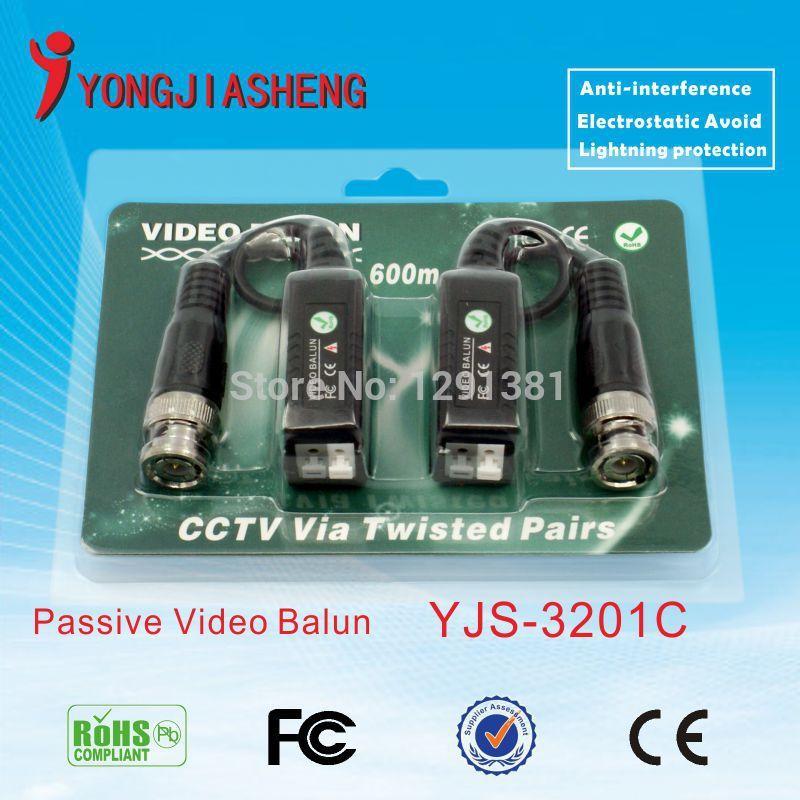 5pairs CCTV UTP balun Twisted BNC passive video balun CAT5 BALUN twisted pair(China (Mainland))