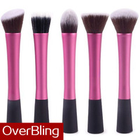 Hot Sale 2014 New Wholesale 5 Pcs Sixplus Synthetic Kabuki Kit Makeup Brushes High Quality Professional Make Up Brush Set