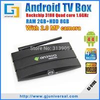 Newest CS918 MK919 Android TV Box camera Quad core RK3188 Cortex-A9 2G RAM 8G Android 4.4 remote control XBMC tv box MK919