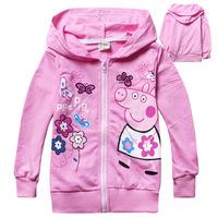 Peppa Pig Kids Clothes Baby Clothing Pink Pepa Pig Vestidos Children Outerwear Baby Girl Coats Kids Jackets Children Hoodies