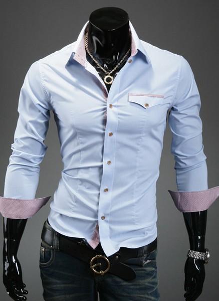 2014 novo camisa marca de moda sólida homens camisas casuais outono primavera camisa de vestido dos homens manga comprida camisas casuais tamanho: xs/s/m/l