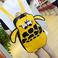 2014 cartoon fashion cute Giraffe backpack for women men bags