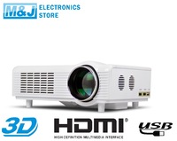Portable HD home projetor home projector 3D led projector 1080P USB HDMI VIDEO International Express Free Shipping