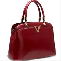 Light leather handbag for woman 2014 new OL wild shoulder bag woman's shoulder bags diagonal package