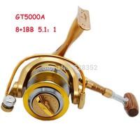 8+1BB 5.1:1 Ball Bearings Left/Right Interchangeable Lightweight aluminum spool Fishing Spinning0 Reels Reel 5000