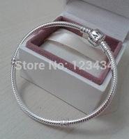 2014 new free Shipping European beads 925 Silver Charm bracelet snake Chain Bracelet