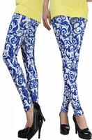New High Waist Patterned Blue And White Porcelain Fitness Brand Chinese Porcelain Leggings For Women 2014  leggings