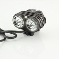 NEW!2800Lm 2X CREE XM-L2 LED Head Front Bicycle Lamp Bike Light Headlamp Headlight Free shipping