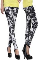 New High Waist Patterned ink and wash painting Fitness Black Flower Leggings For Women 2014  leggings