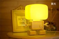 Free shipping LED light Robot sound light controlled Nightlight energy-saving bed bedroom desk lamp creative LED panel light