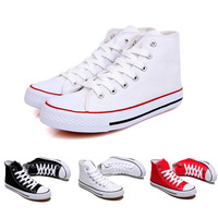 Free shipping 2014 New Classic men and women high help canvas shoes Lace Up sneakers for women