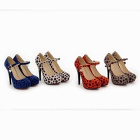 FREE SHIPPING 2014 LD-P1729 Europpe&American Nightclub Sexy Leopard Lady 12CM Ultra High heel Pumps Weddding/Party/Cosplay Shoes