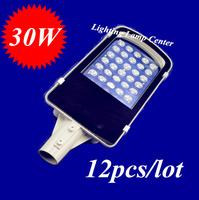 wholesale 12pcs/lot  30W led street lights IP65 Epistar lighting 3500LM LED led street light outdoor lighting lamps