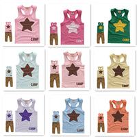 2014 new star tshirt kids children unisex vest & waistcoats for kids wholesale