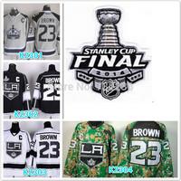 2014 Cheap LA Kings Hockey Jerseys 23 Dustin Brown Jersey LA Kings Stitched 2014 Stadium Series Jerseys Cup patch