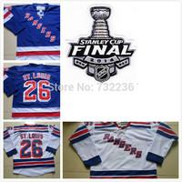 2014 cheap free shipping New York Rangers #26 Martin St.Louis Jersey Royal Blue Ice Hockey Jersey /Martin St.Louis hockey shirt