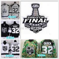 2014 Cheap stitched NHL LA/Los Angeles Kings 32 Jonathan Quick green camo ice hockey jersey/shirt/sportswear