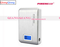 Original PINENG PN-928 External Power Bank Dual USB LCD Display LED Flashlight For Iphone/Samsung/Retail Box/Silver