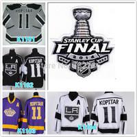 2014 Cheap LA Kings Hockey Jerseys #11 Anze Kopitar Jersey LA Kings Stitched 2014 Stadium Series Jerseys Cup patch