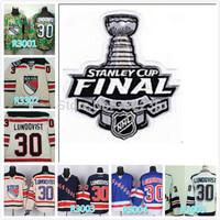 2014 free shipping Stanley Cup Finals Patch New York Rangers 30 Henrik Lundqvist ice hockey jersey/shirt/sportswear