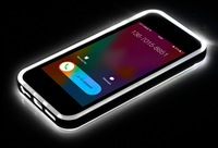 MOQ 1PC Original ROCK Flash Series LED IC Flashlight Call Notice TPU+PC Bumper Frame Case for iPhone 5 5s + Free Shipping