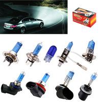 2pcs Fog lights car light source headlight Halogen Bulb Super Bright White T10 w5w H1 H3 H4 H7 9005/HB3 9006/HB4 H8/H11 880 881